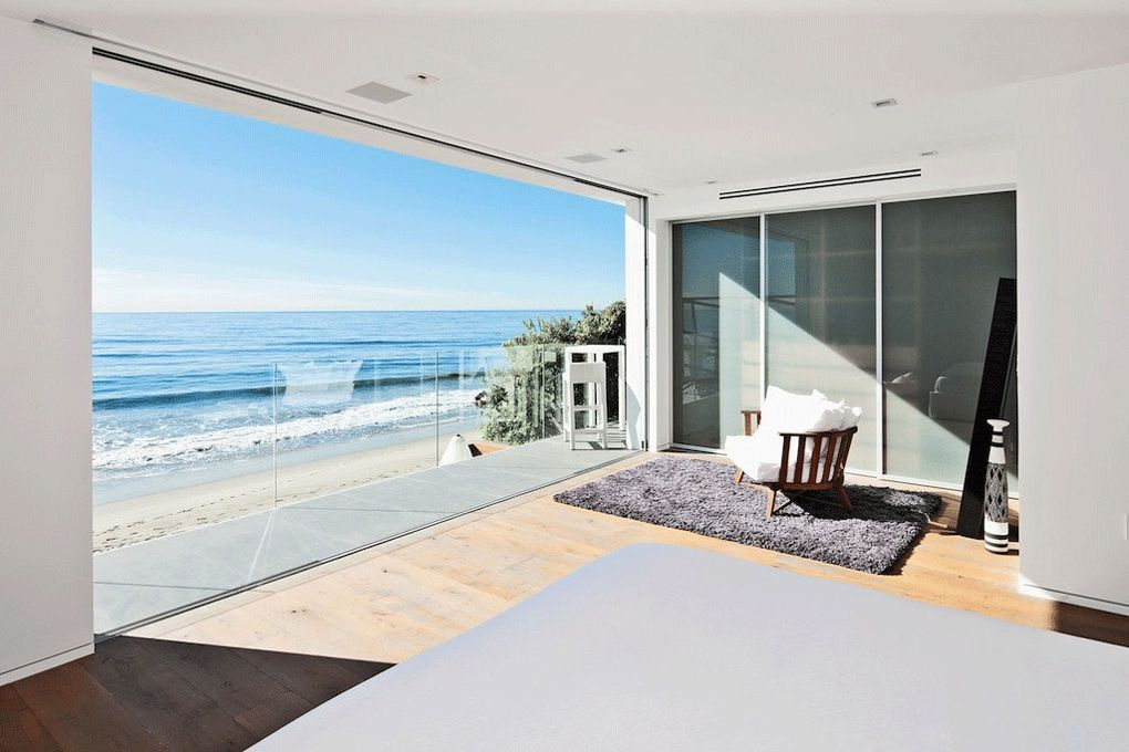 Bedroom balcony ocean views oceanfront home beautiful for Beach house view
