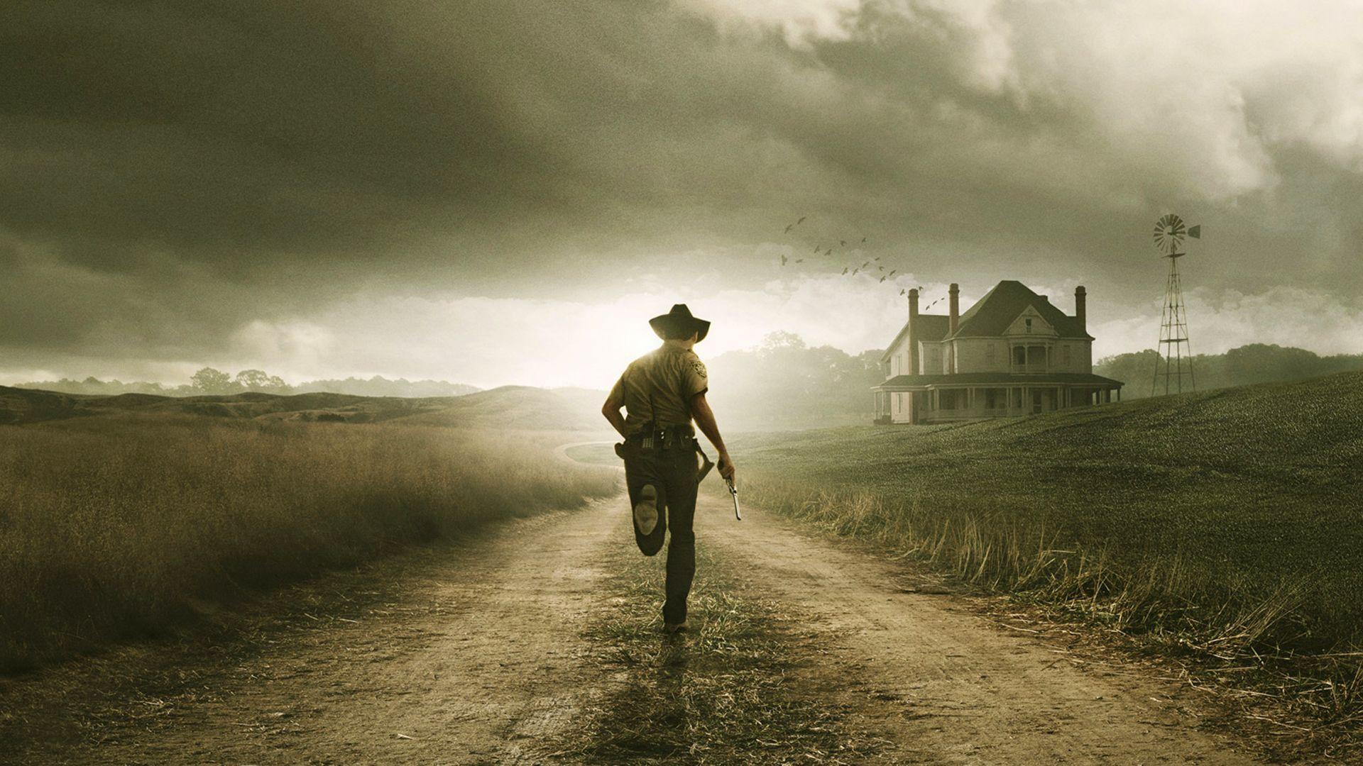 houses path cowboys The Walking Dead running - Wallpaper (#1378585) / Wallbase.cc