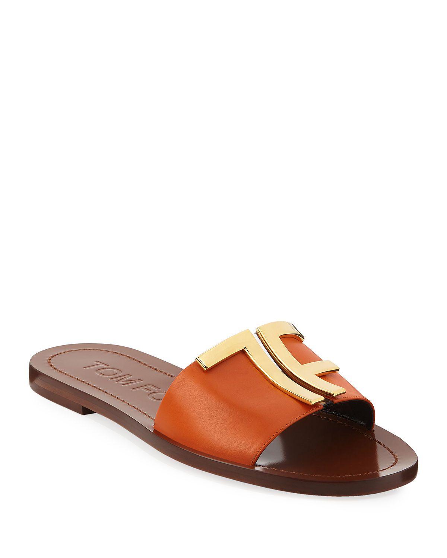 TOM FORD TF Flat Slide Sandals in 2020