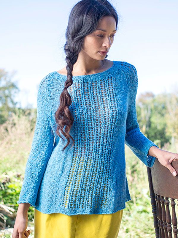 Lace Pullover Free Knitting Patterns | Knit patterns, Patterns and ...