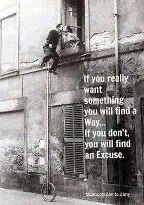 If you really want something...