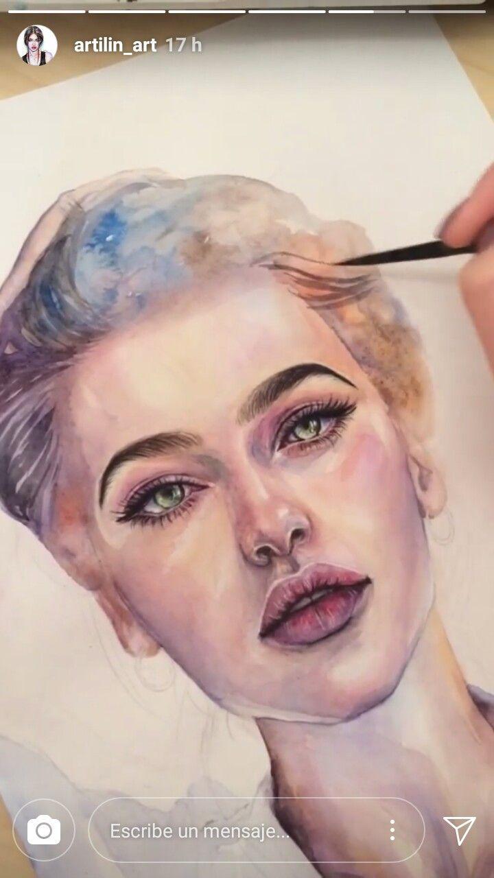 Pin Von Art By Angela Tatli Auf Portrait Malen Portrait Painting
