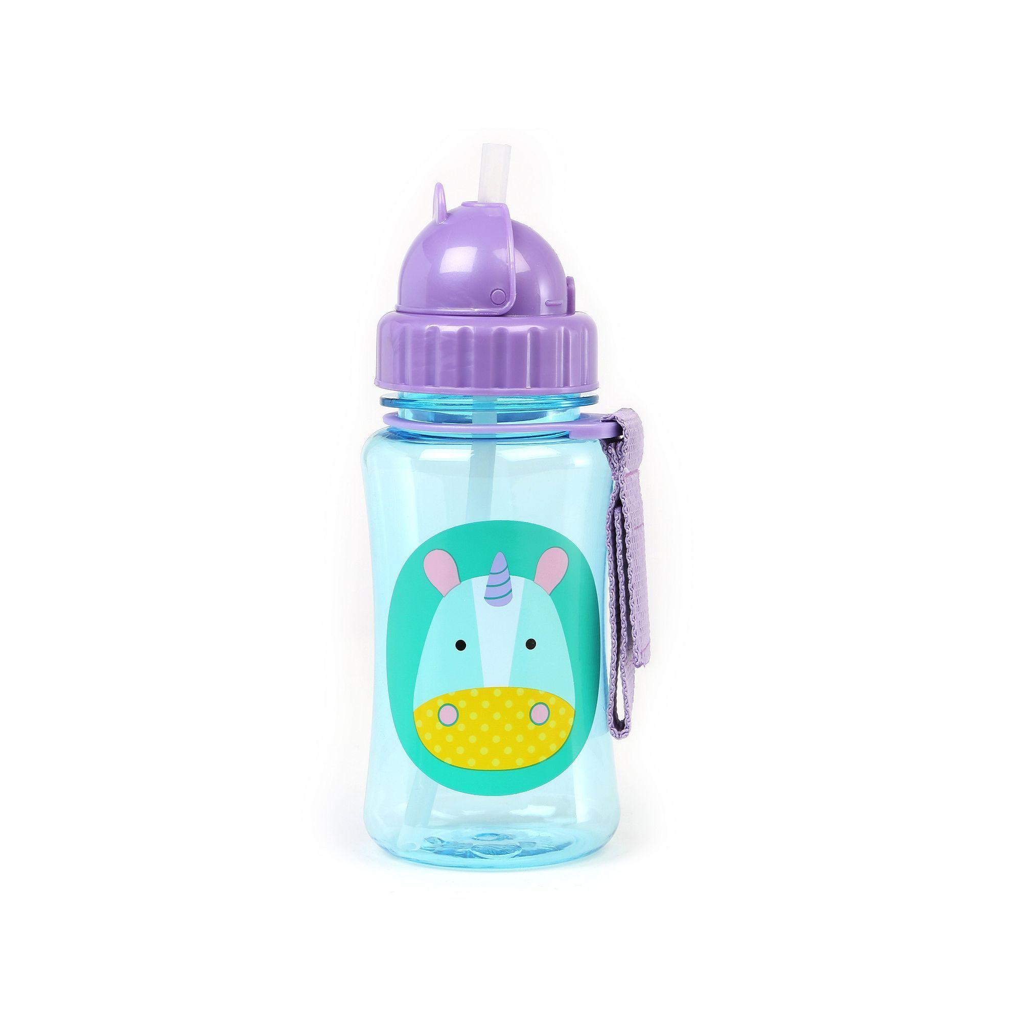 Skip Hop Zoo 12 Ounce Straw Bottle Multicolor Garrafas De Agua Garrafas Itens Para O Bebe