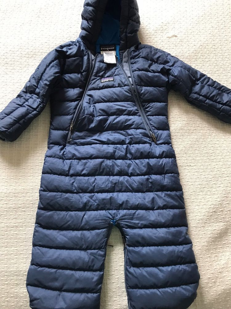 d1e28abae0 Patagonia Down Navy Baby Boy Snowsuit 6m months Bunting Suit One ...