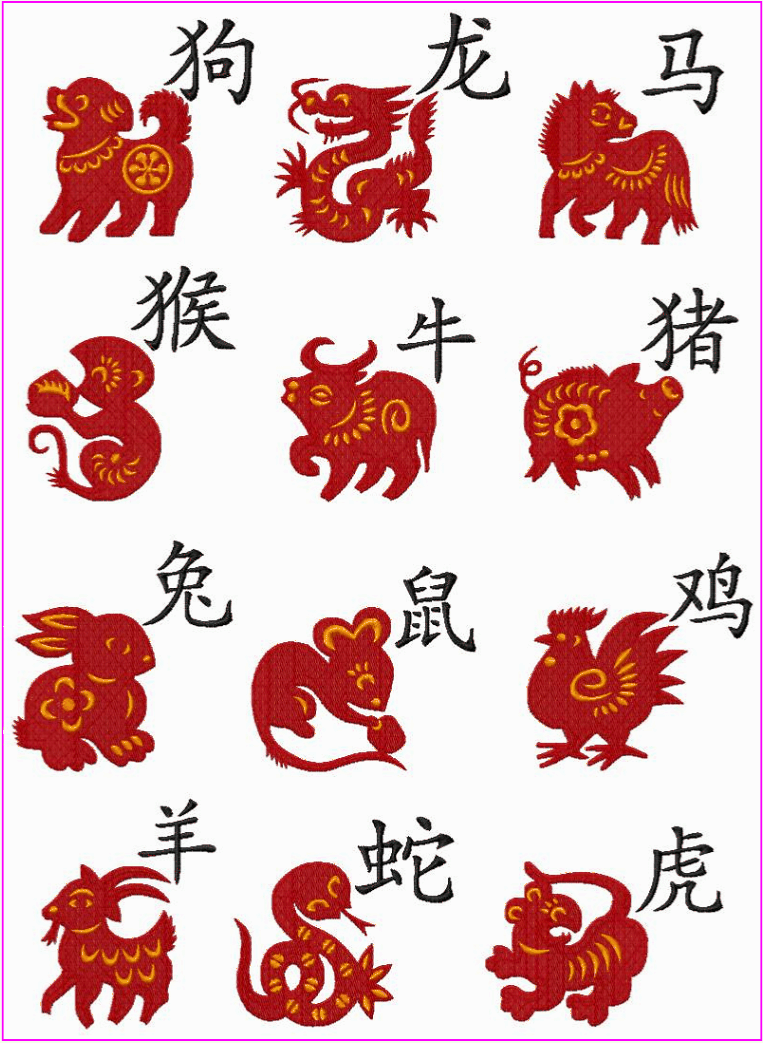 Chinese Zodiac Animals Oriental Forecasts A Strong Pastime
