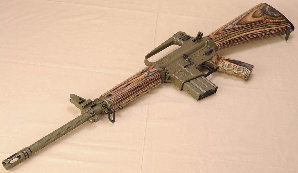 laminated wood trim on a ar rifles are radical pinterest guns
