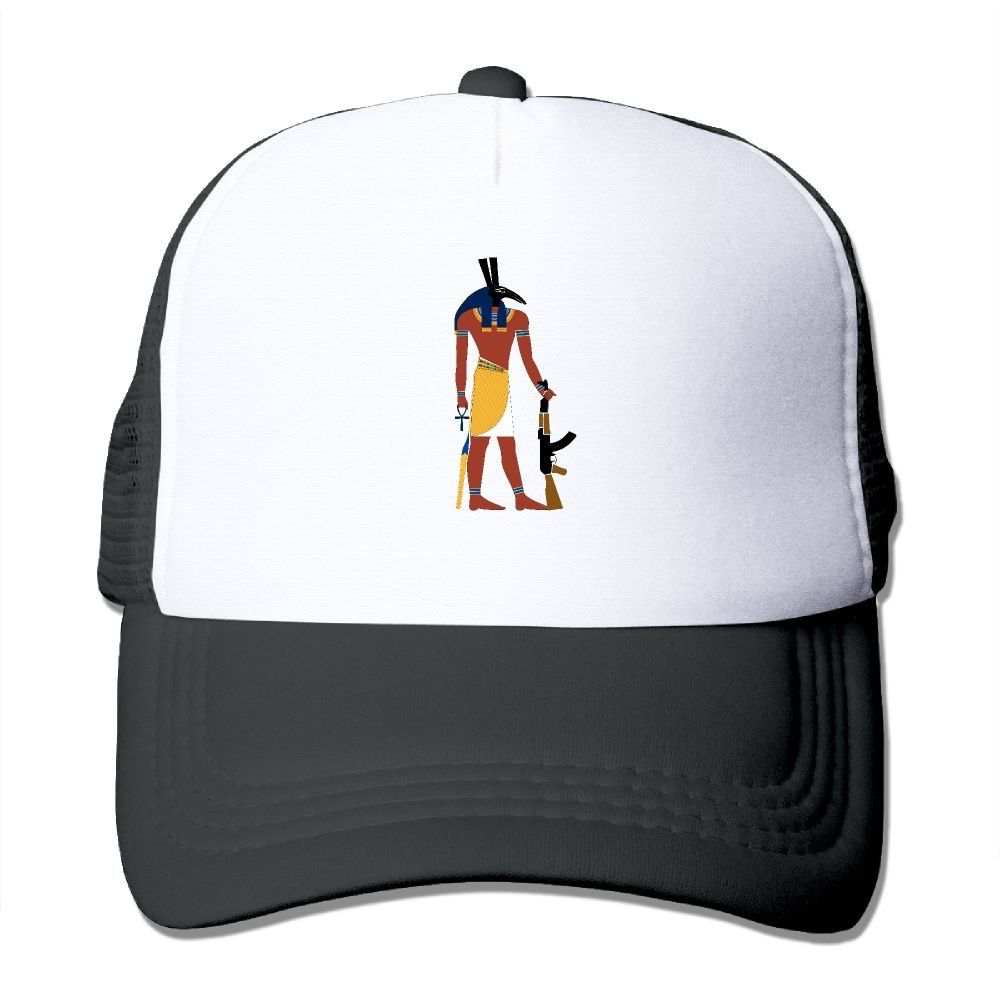1b61be00b39 Unisex Anubis AK-47 Egypt Good Vibes Adjustable Mesh Hat Trucker Baseball  Cap. Anubis AK-47 Egypt Baseball Caps Adjustable Snapback