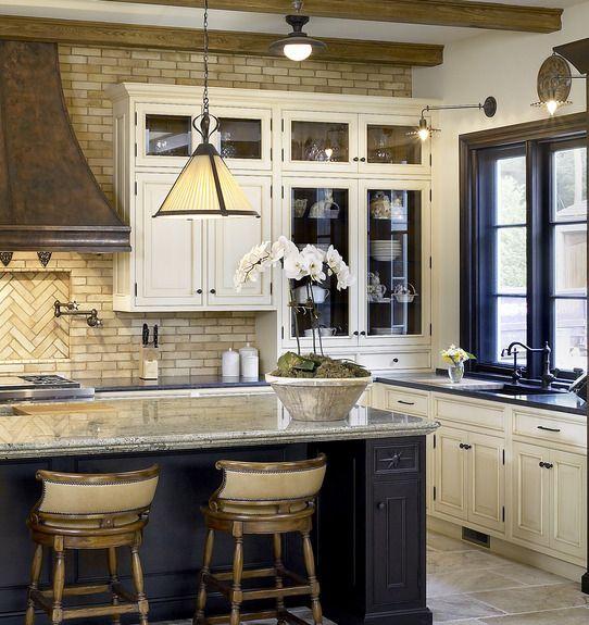 Black Kitchen Cabinets Rustic: Frank Ponterio Interior Design
