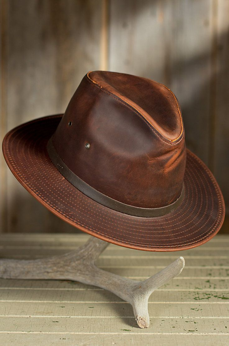 4d1d2b7a1e6e4 Outback Leather Safari Hat » Perfectly Indiana Jones!! Mens Leather Hats