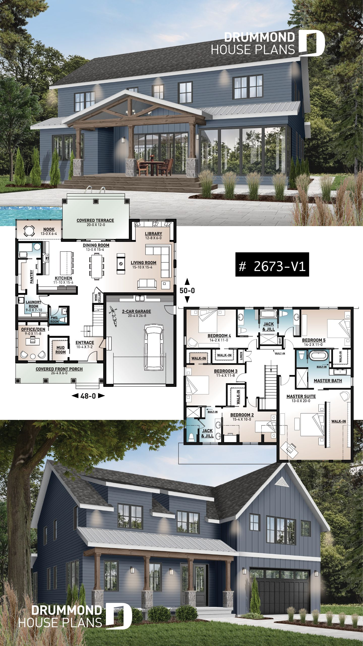 Discover The Plan 2673 V1 St Arnaud 2 Which Will Please You For Its 5 Bedrooms And For Its Farmhouse Styles House Plans Farmhouse Sims House Plans Ranch House Plans