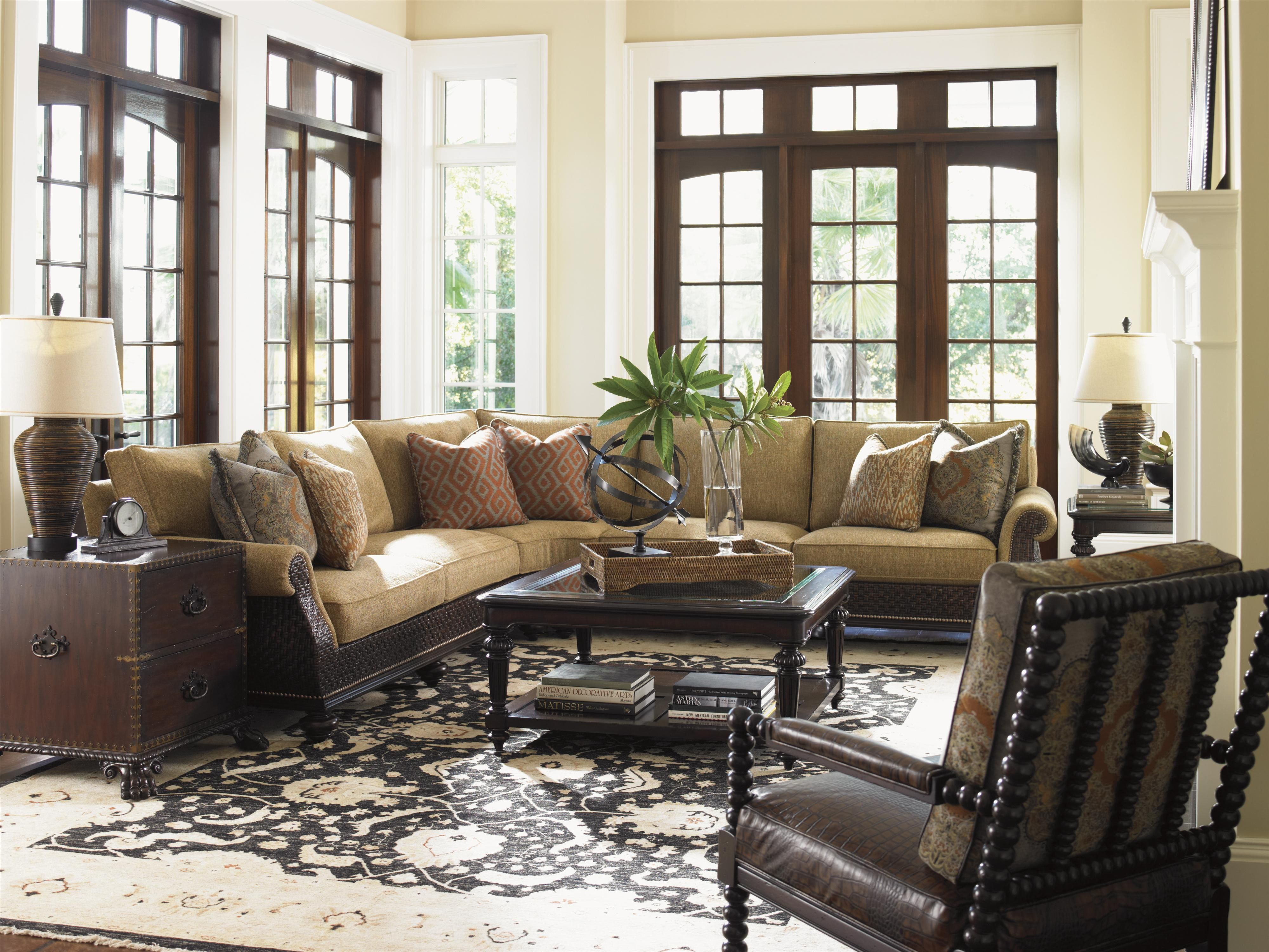 Interio Sofa Tampa Tommy Bahama Home Island Traditions Westbury Sectional