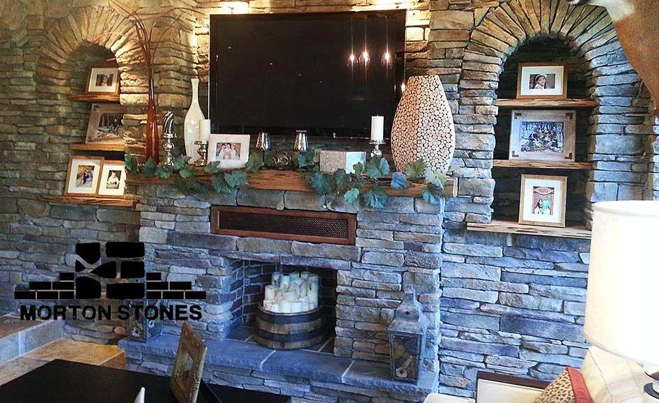 Stylish Ledgestone Fireplace Remodel Fireplace Remodel Stone