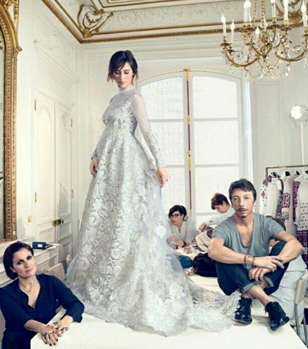 Sophie Hunter in the midst dreamy Valentino wedding dress