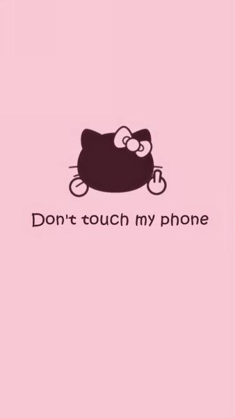 Black Lock Screen Hello Kitty Wallpaper Doraemon In 2020 Hello Kitty Iphone Wallpaper Dont Touch My Phone Wallpapers Hello Kitty Pictures