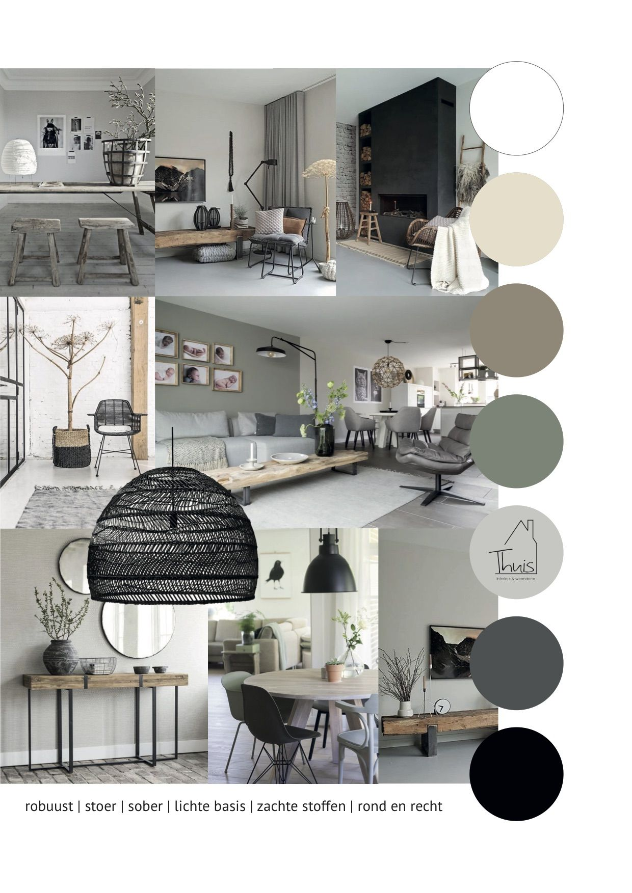 Portfolio 12 Stoere woonkamer - THUIS interieur & woondeco