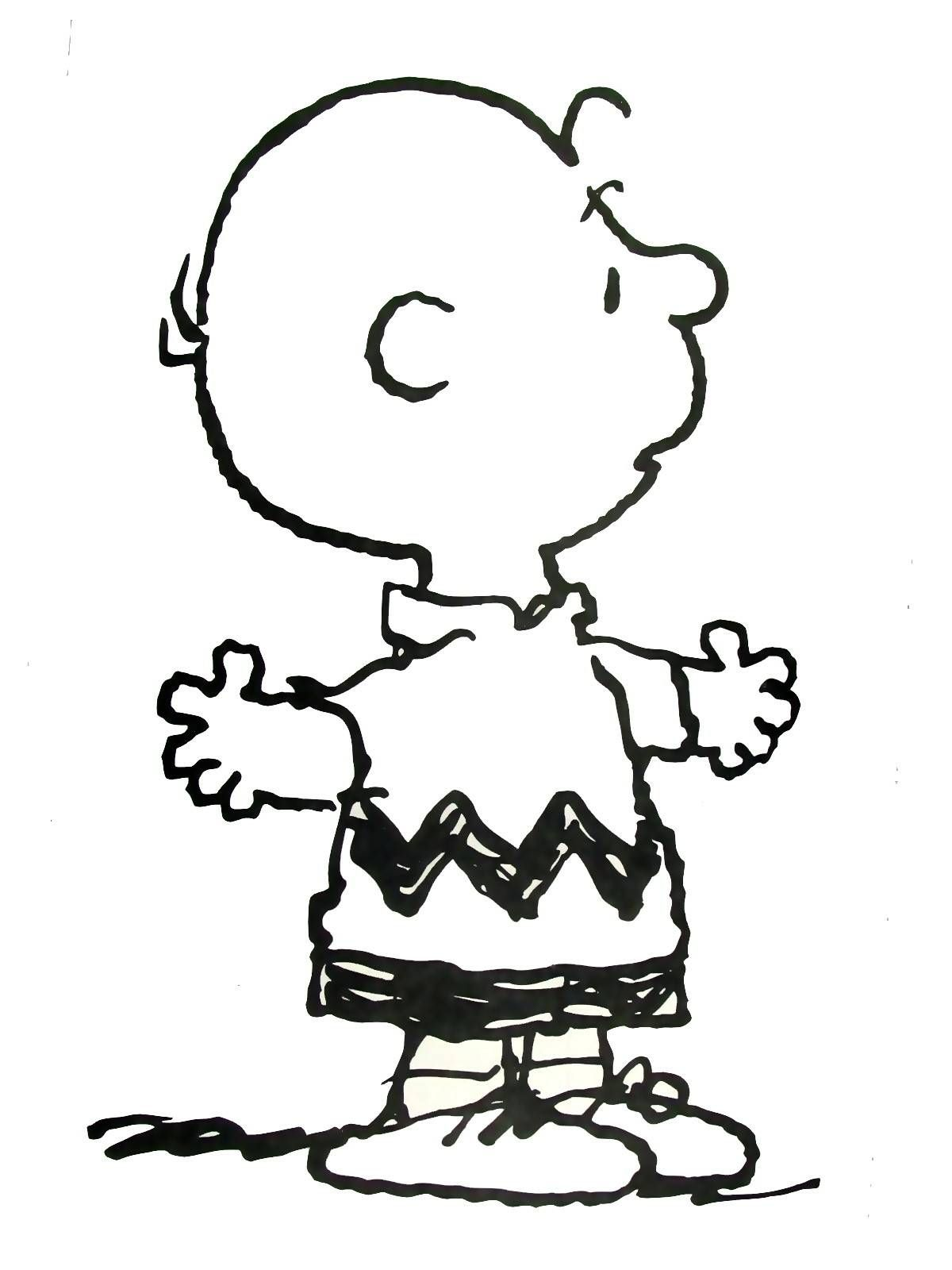 Charlie Brown Coloring Book Page Printable | Peanuts Coloring Book ...