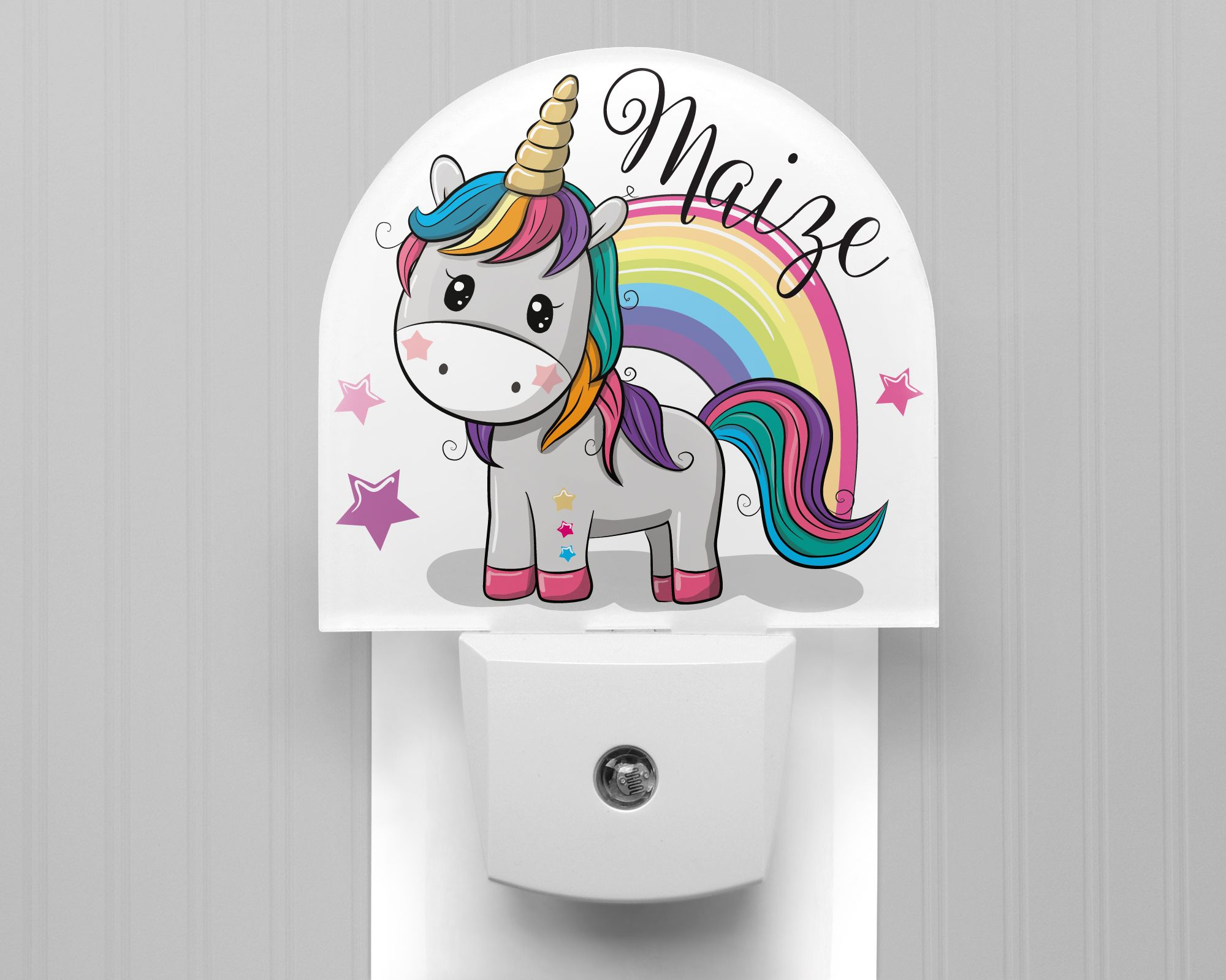 Personalized Rainbow Unicorn Night Light In 2020 Night Light Led Night Light Dusk To Dawn