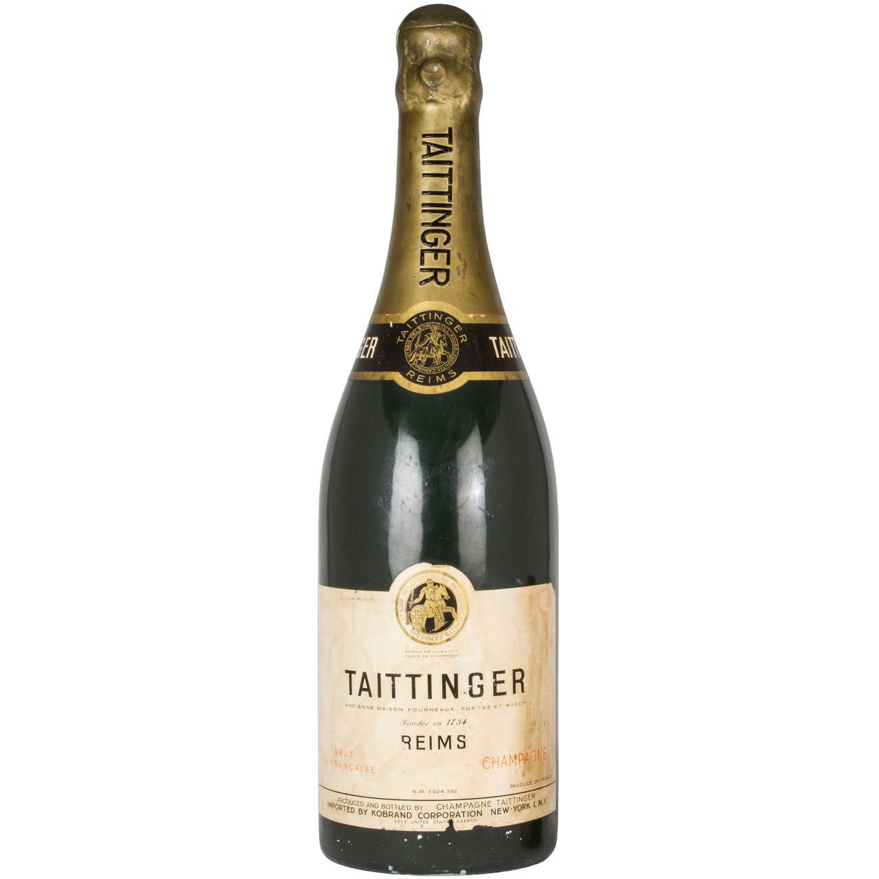 Monumental Taittinger Store Display Champagne Bottle | From a unique collection of antique and modern signs at https://www.1stdibs.com/furniture/folk-art/signs/