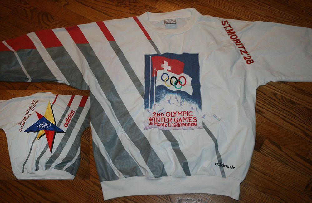 Vintage Adidas St. Moritz 1928 2nd Olympic Winter Games