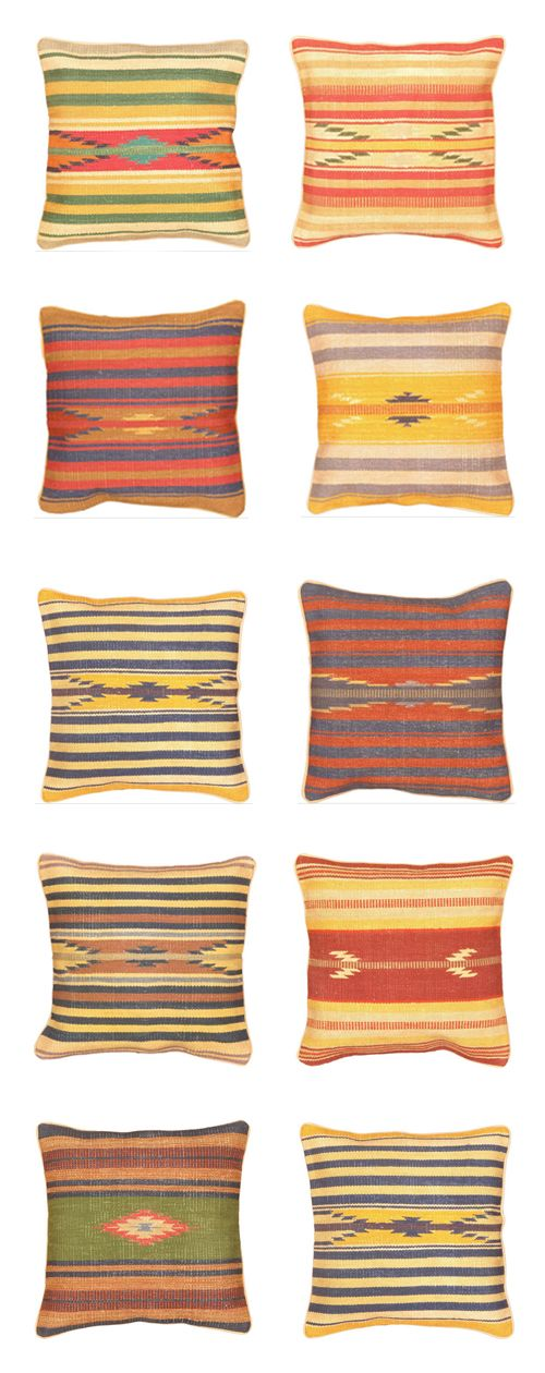 Tribal Pillows Via Domino Com Pillows Aztec Decor Rugs