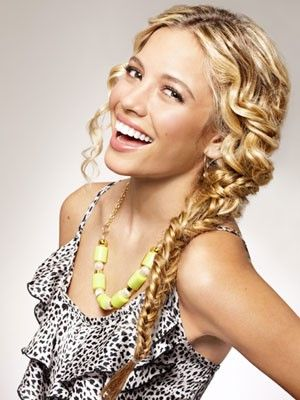 curly braided hairstyles on pinterest waterfall braid