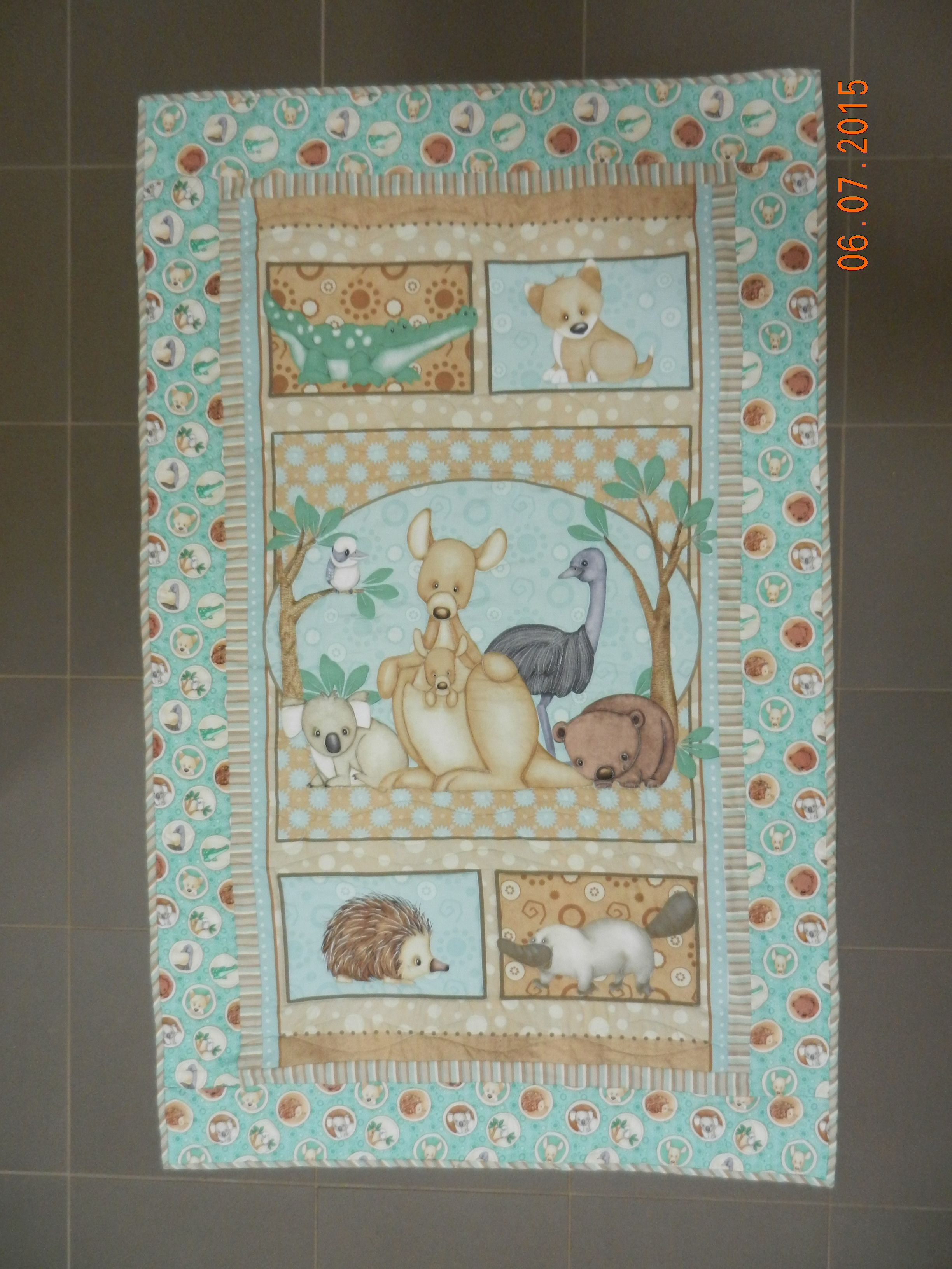 Cot Bedding Australia Cot Quilt Australian Baby Animals Panel Mostly Free