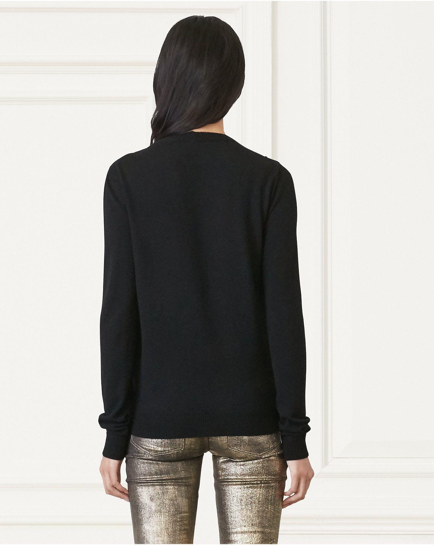 583edc03e7e0d Velvet-Front Cashmere Cardigan Ralph Lauren Collection, Cashmere Cardigan,  Velvet