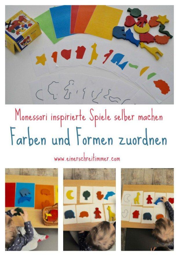 Montessori-inspirierte Spiele selber machen – Farben lernen ...