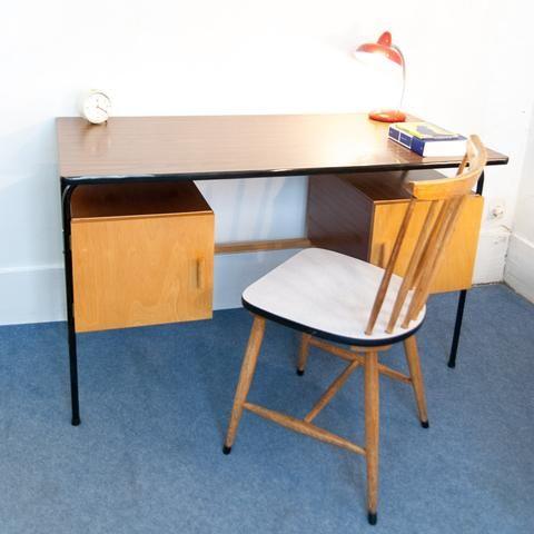 Bureau Vintage Bois et Mtal Monsieur Joseph 1 meubles