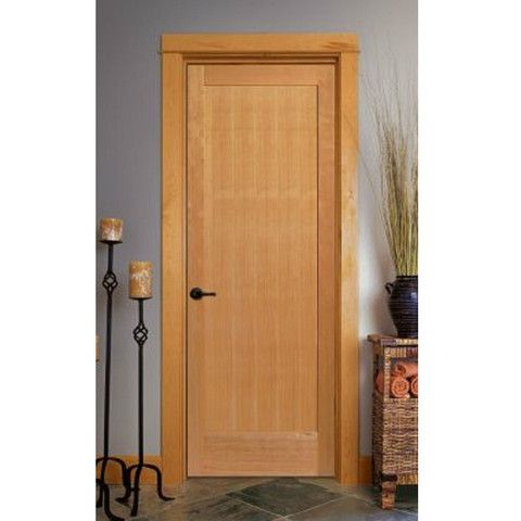 1 Panel Unfinished Hemlock Interior Door Doors Interior Interior Shaker Doors