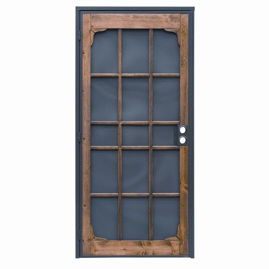 Precision Woodguard Oak Steel Security Door Common 35 In