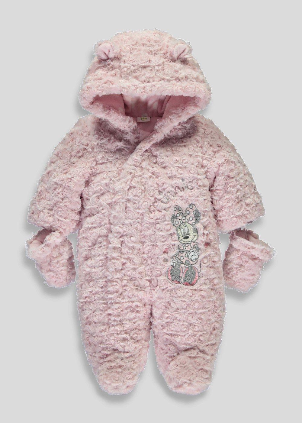 e72823eda Girls Disney Minnie Mouse Snowsuit (Newborn - 12mths) - Matalan ...