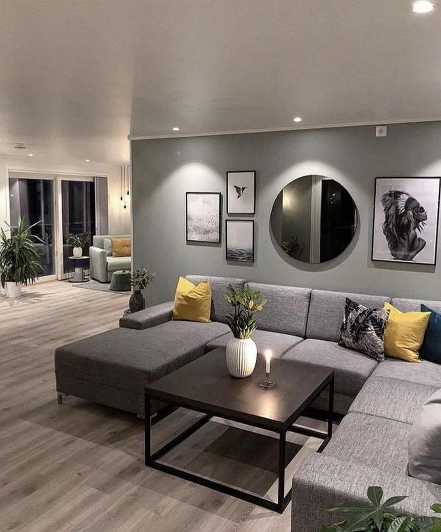 8 gemütliche graue Wohnzimmer Deko-Ideen 8 #grau #Wohnzimmer