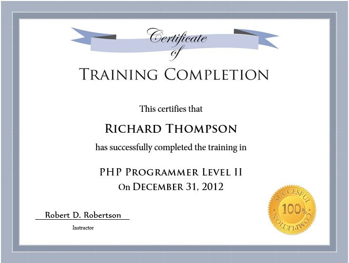 10 training certificate templates free printable word pdf