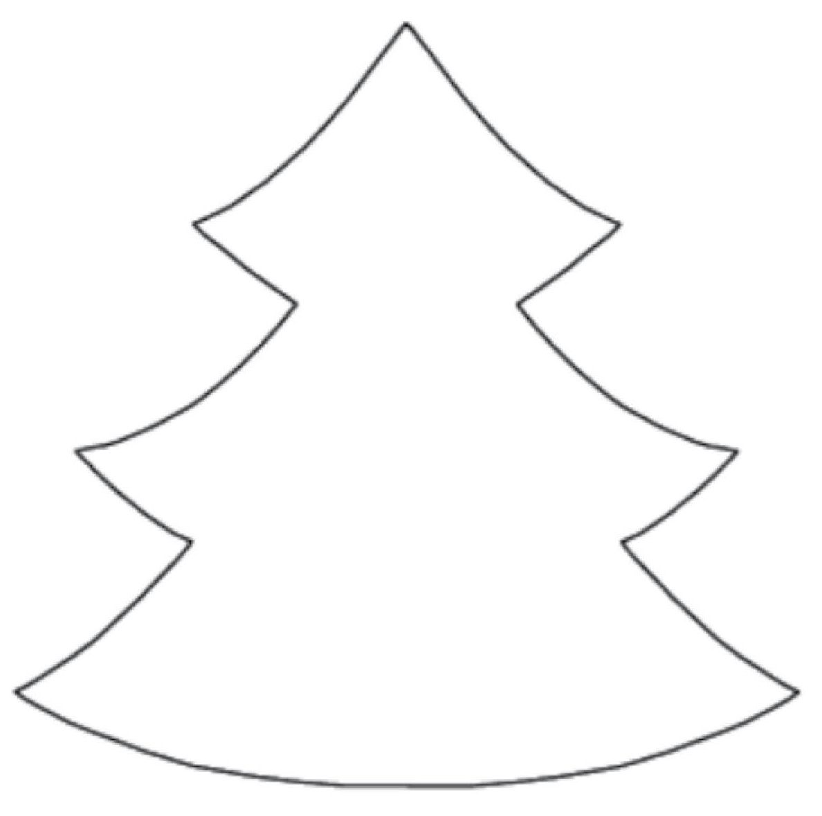 printable christmas tree patterns | Trace the pattern on fabric and cut out  the pieces.