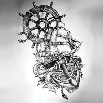 Algunos Originales Disenos De Anclas Para Tatuar Disenos De Anclas Tatuajes De Anclas Tatuaje De Rueda