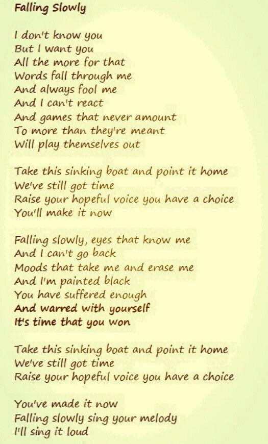 Falling Slowly Glen Hansard Feat Marketa Irglova With Images