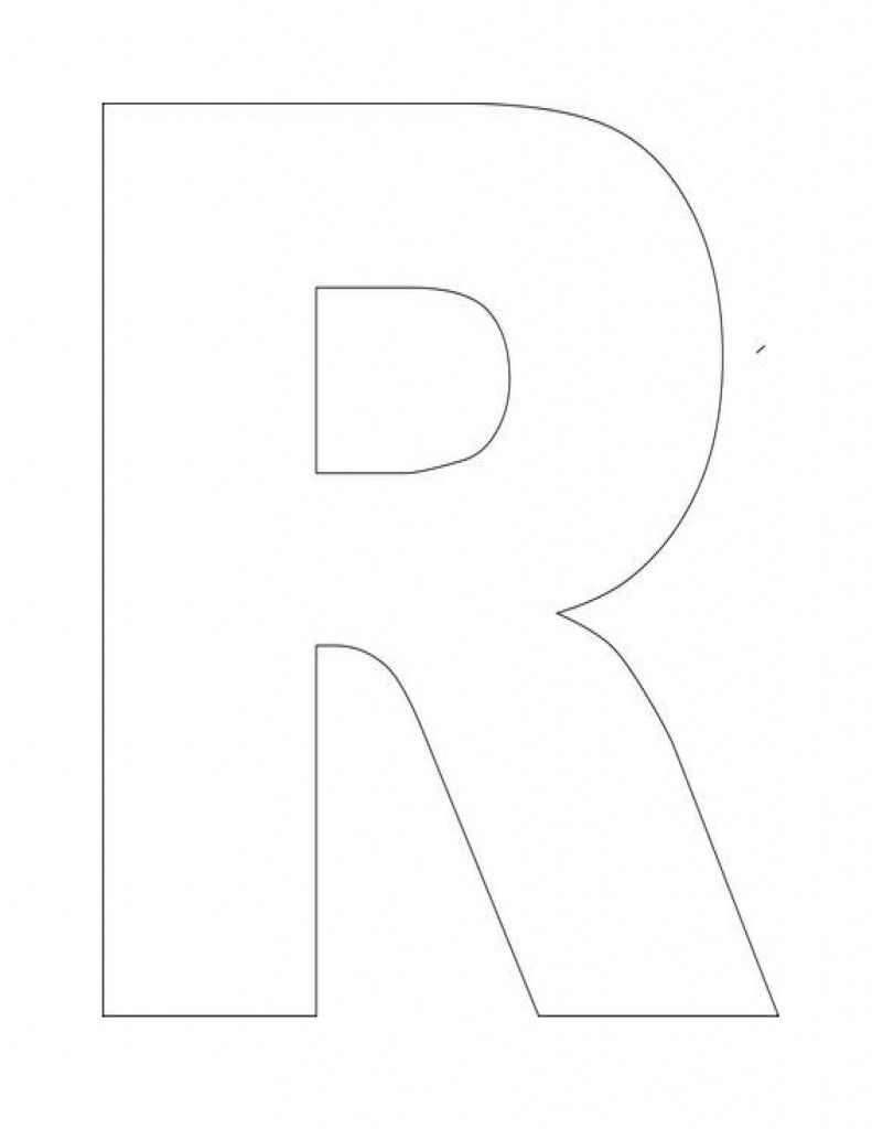 Declarative image with letter r printable