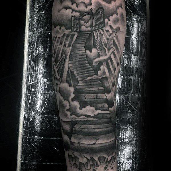 Top 53 Best Heaven Tattoos Ideas 2020 Inspiration Guide Heaven Tattoos Tree Tattoo Men Gates Of Heaven Tattoo