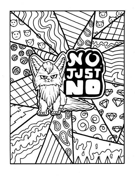 Cat - Adult Coloring page - swear Get 14 FREE printable coloring - fresh realistic rhino coloring pages