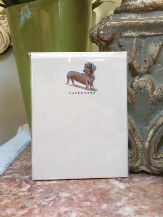 Dachshund Dog Note Card Set by canadaonce on Etsy