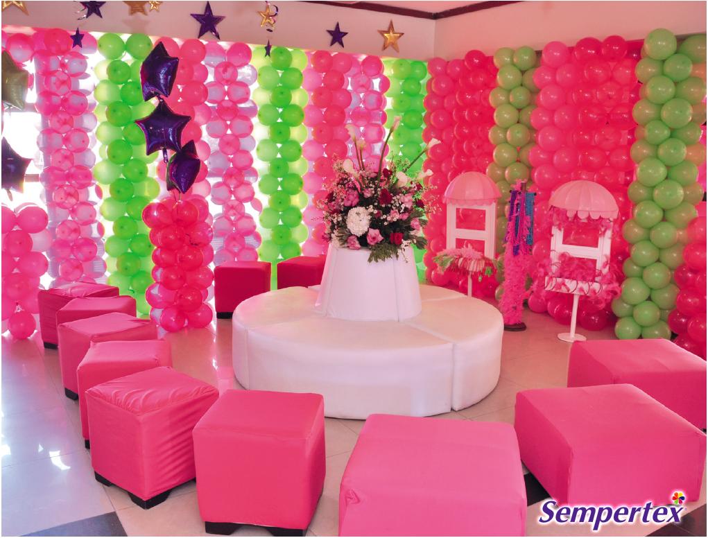 Para decorar las paredes de esta fiesta se utilizaron - Colores para pintar paredes ...