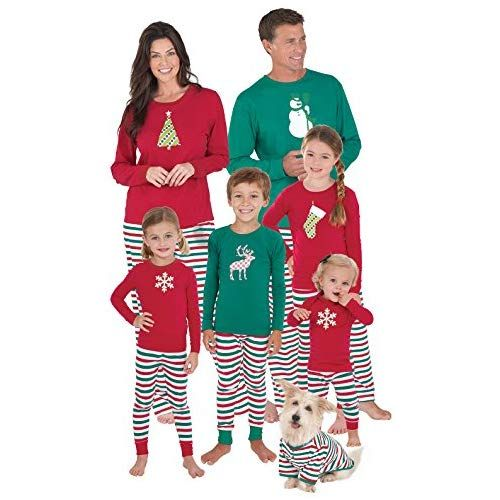 PajamaGram Family Christmas Pajamas Cotton 515d349a4