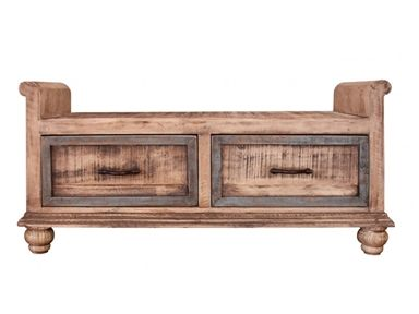 Shop For Artisan Home 2 Drawer Bedroom Bench, And Other Benches At Furniture  Plus Inc. In Mesa, AZ.