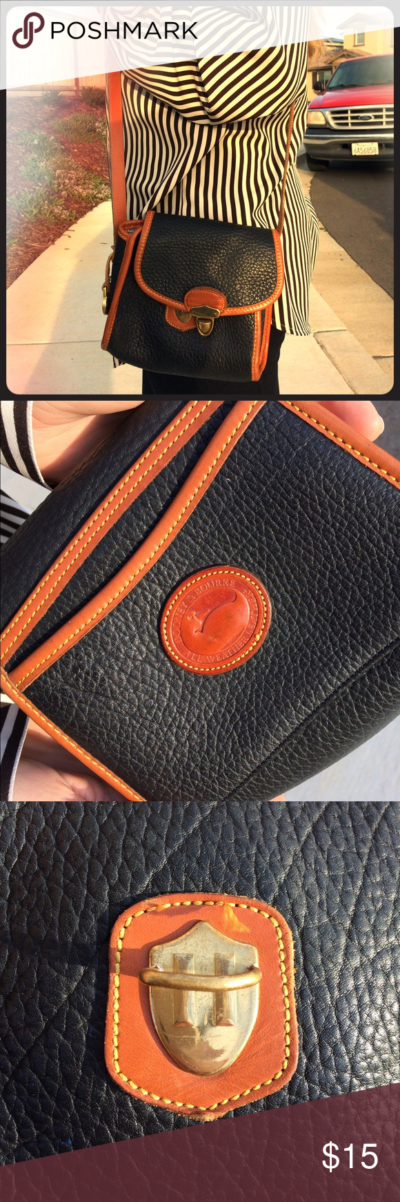 Authentic Dooney & Bourke Crossbody Vintage, retro, timeless, classic. *A little hard to close but will close. Dooney & Bourke Bags Crossbody Bags