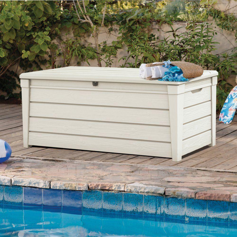 Deck Storage Box 120 Gallon Outdoor Yard Patio Garden Pool 400 x 300