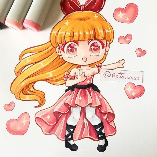 Blossom  Chibi  Chibi Girl, Chibi Y Manga Girl-6561