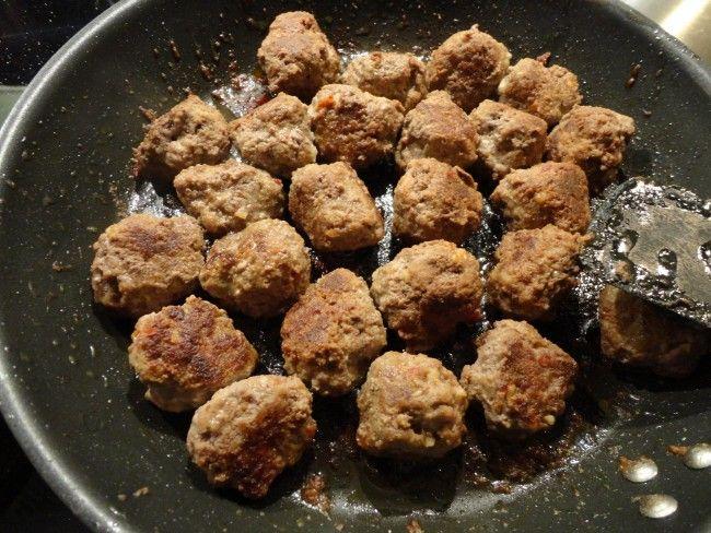 kryddiga köttbullar i ugn