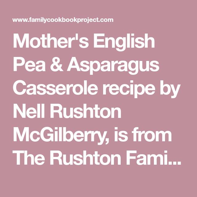 Asparagus Casserole Recipes Mushroom Soup