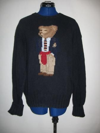 6ad47361b Find out what used items are worth money.Ralph Lauren Polo teddy bear  sweater.